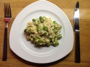 Risotto italiano mit grünem Spargel