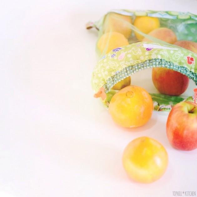 Selbstgerechter Obst- und Gemüsebeutel. Keine Plastikverpackungen mehr!