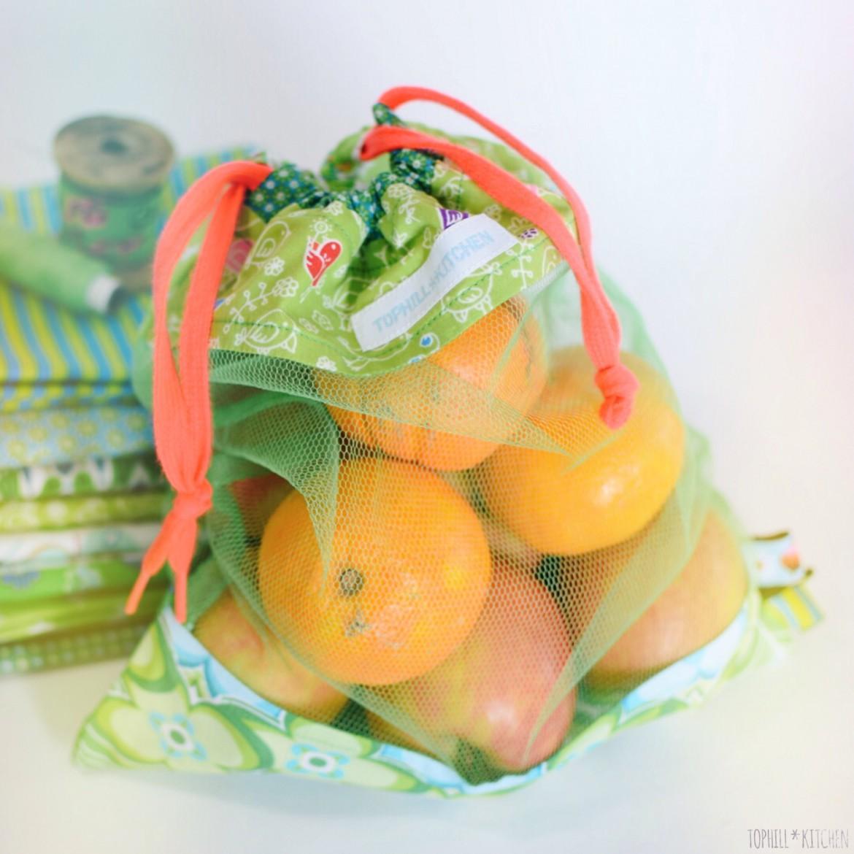Plastikmüll vermeiden mit selbstgenähten Obst- und Gemüsebeuteln!