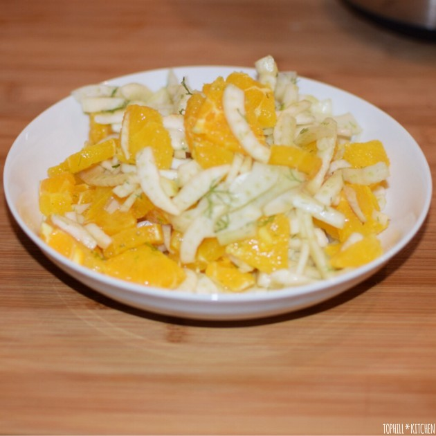 Fenchel mit Orange - Rohkostsalat