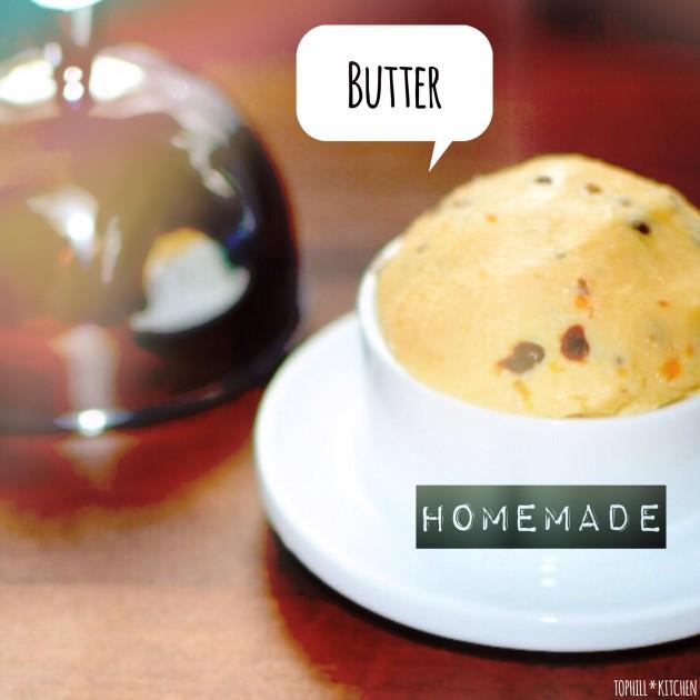 Fertige selbstgemachte Butter