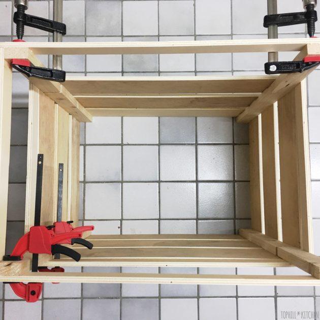 Pflanzkiste selbst machen, Deckel passgenau bauen