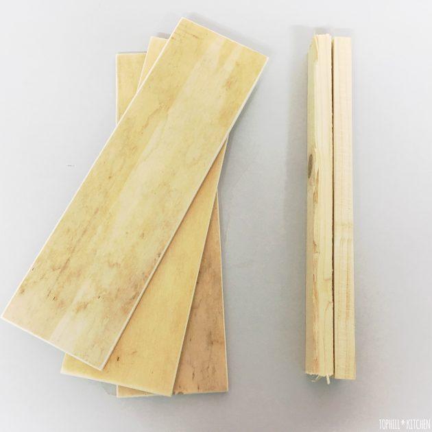 Benötigtes Holz für ein Seitenteil - Pflanzkiste selber machen