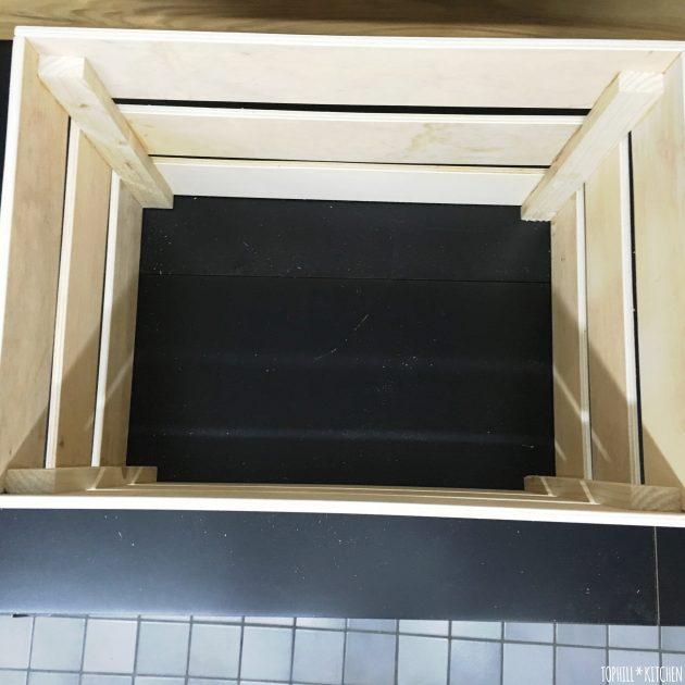 Pflanzkiste selber machen - fertige Kiste noch ohne Boden