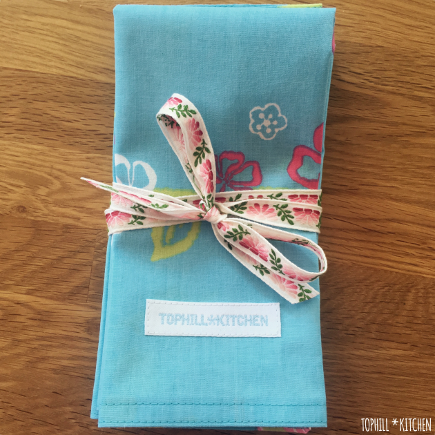 Servietten als Geschenk verpackt